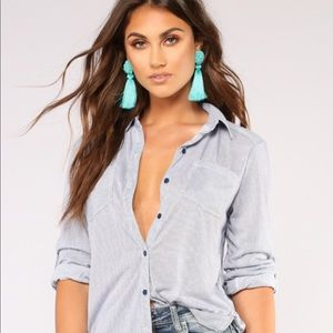 NWT Fashion Nova Lounge Style Button Up Top